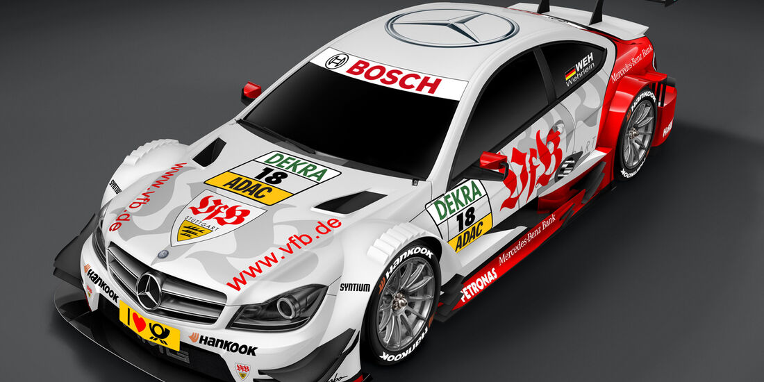 Pascal Wehrlein DTM Mercedes Vfb Stuttgart 2013