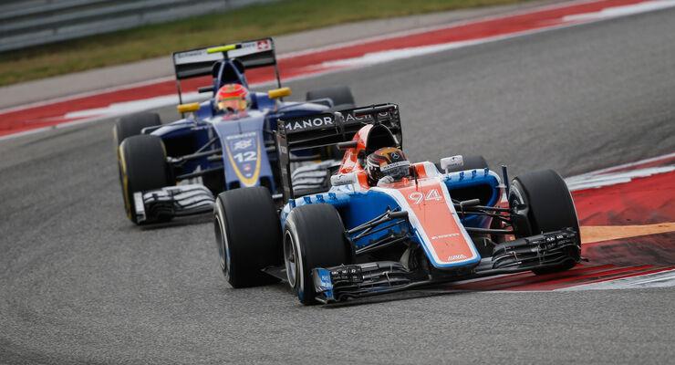 Pascal Wehrlein - Manor - Felipe Nasr - Sauber - GP USA 2016