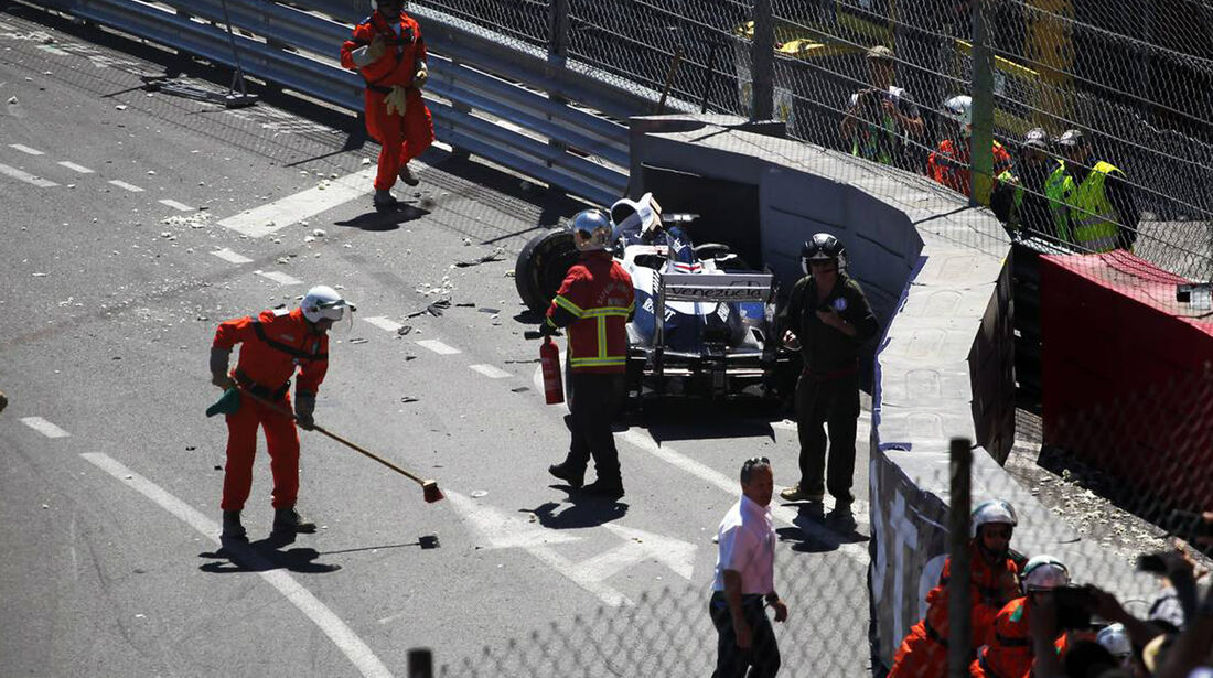 Pastor Maldonado Crash - Formel 1 - GP Monaco - 26. Mai 2013