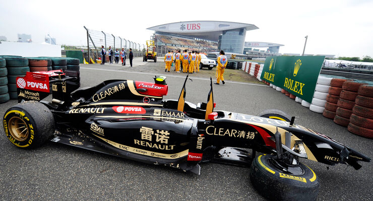 Pastor Maldonado - Lotus - Formel 1 - GP China - Shanghai - 18. April 2014