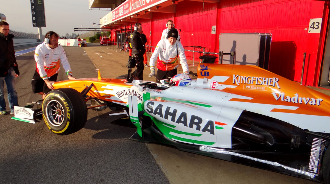 Paul di Resta - Force India - Formel 1 - Test - Barcelona - 20. Februar 2013