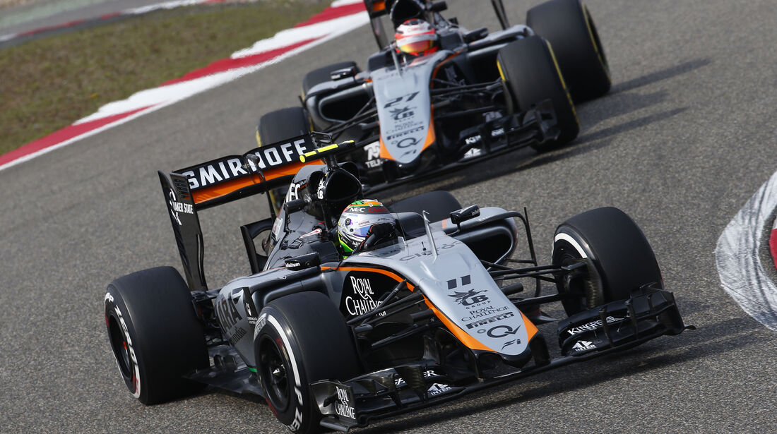 Perez & Hülkenberg - Force India - Formel 1 - GP China - Shanghai - 10. April 2015