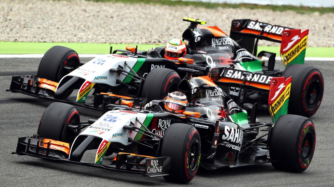 Perez & Hülkenberg - Force India - GP Deutschland 2014