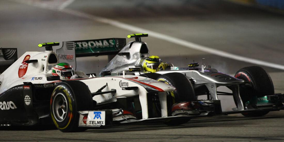 Perez & Rosberg GP Singapur 2011