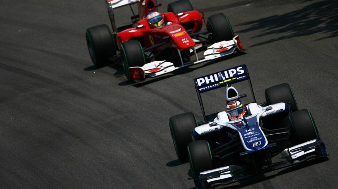 Petrov Hülkenberg Kubica GP Brasilien 2010