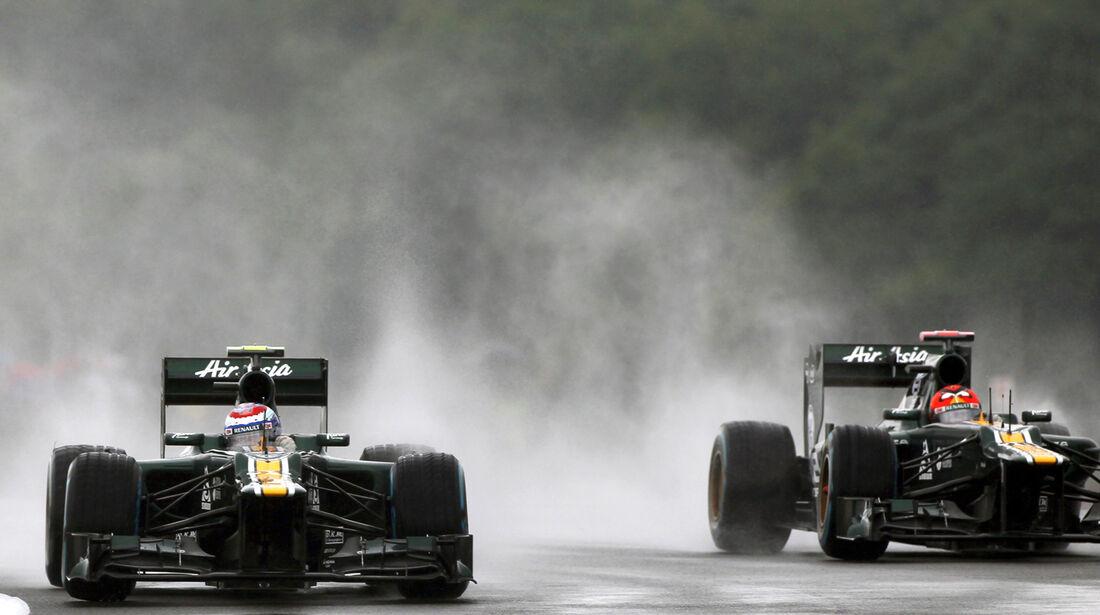 Petrov Kovalainen Caterham GP England 2012