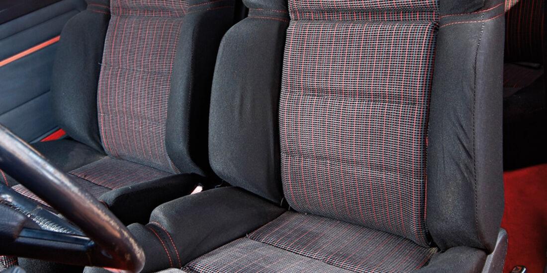 Peugeot 205 GTI, Sitze