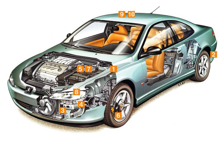 Peugeot 406 Coupé, Schwachpunkte, Igelbild