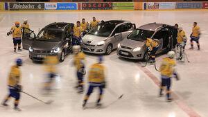 Peugeot 5008, Ford Grand C-Max, VW Touran, Kompaktvans, Eishockey
