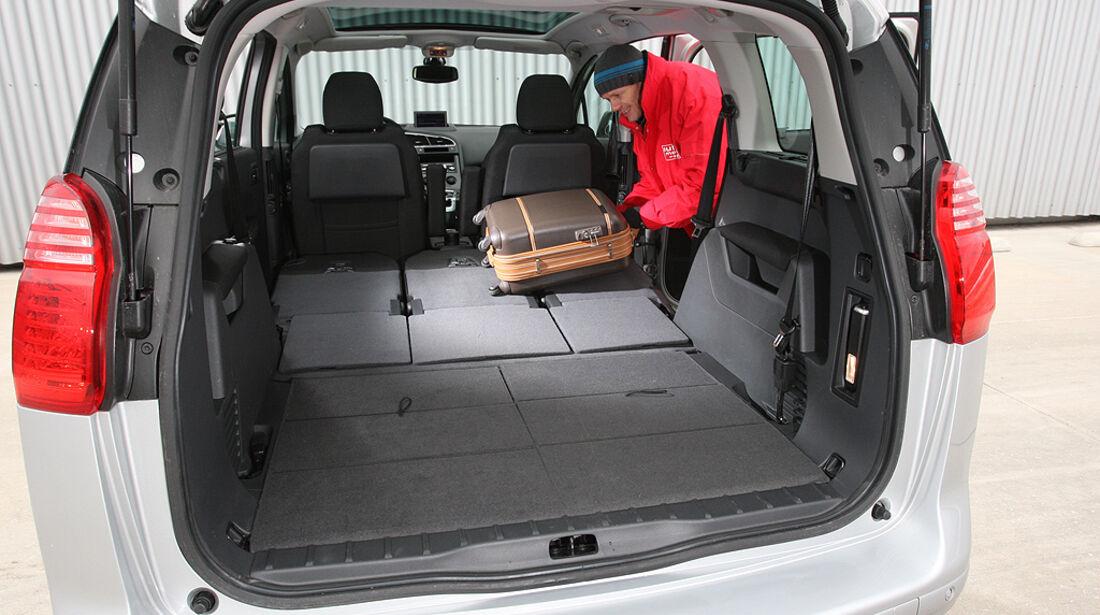Peugeot 5008, Innenraum, Kofferraum