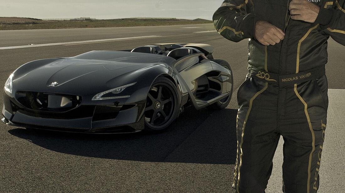 Peugeot EX1 Concept Car Testfahrer