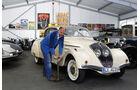 Peugot 402 Eclipse, Andreas Golz, Werkstatt, Garage, mehrere Fahrzeuge, Reifen