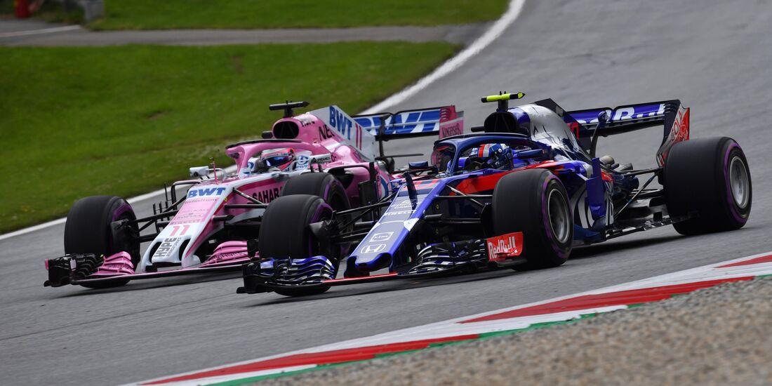 Pierre Gasly - Sergio Perez - Formel 1 - GP Österreich - 29. Juni 2018