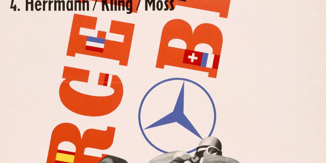 Plakat - Mercedes - GP Argentinien 1955 - Buenos Aires