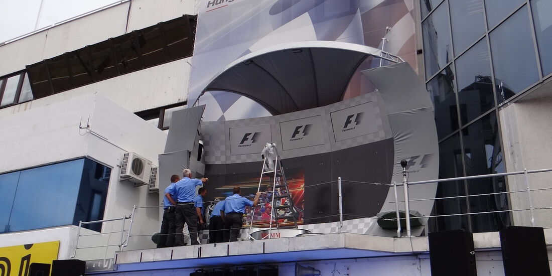 Podium - Formel 1 - Budapest - GP Ungarn - 26. Juli 2012