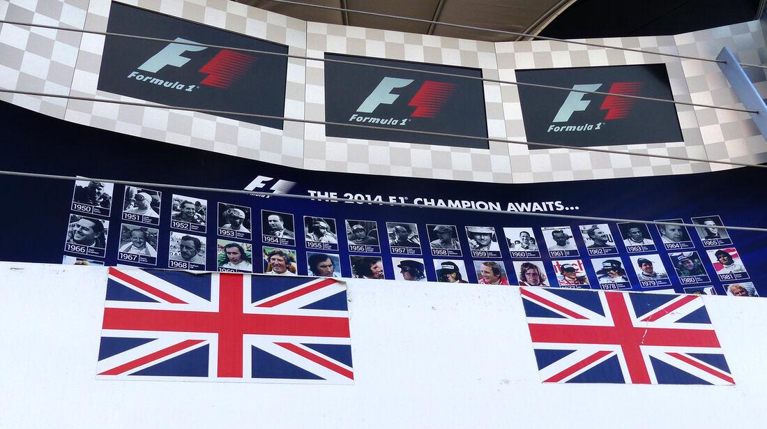 Podium - Formel 1 - GP England - Silverstone - 3. Juli 2014