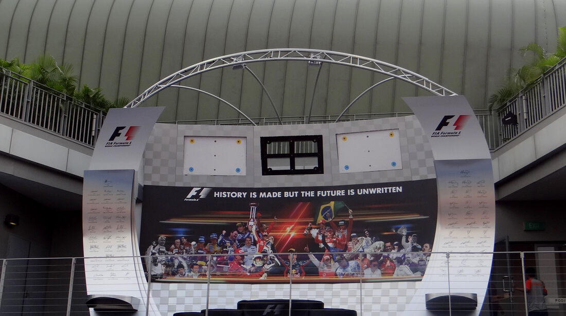 Podium - Formel 1 - GP Singapur - 20. September 2012