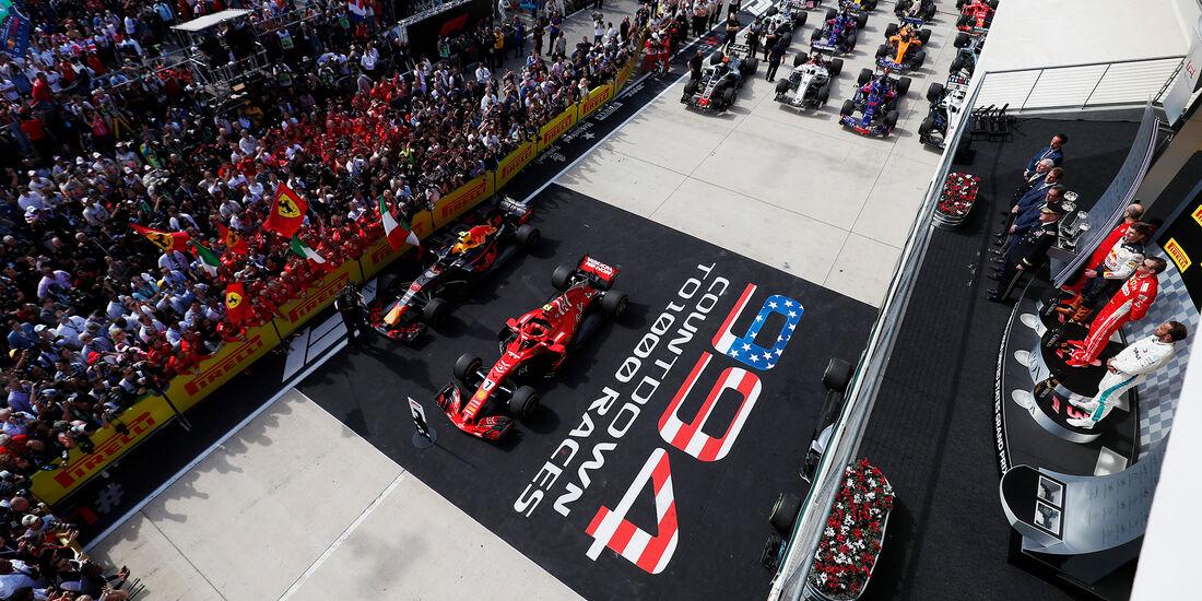 Podium - Formel 1 - GP USA - Austin - 2018