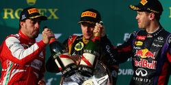 Podium GP Australien 2013
