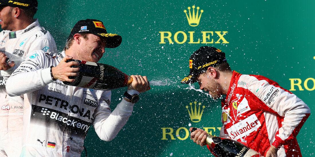 Podium - GP Australien 2015
