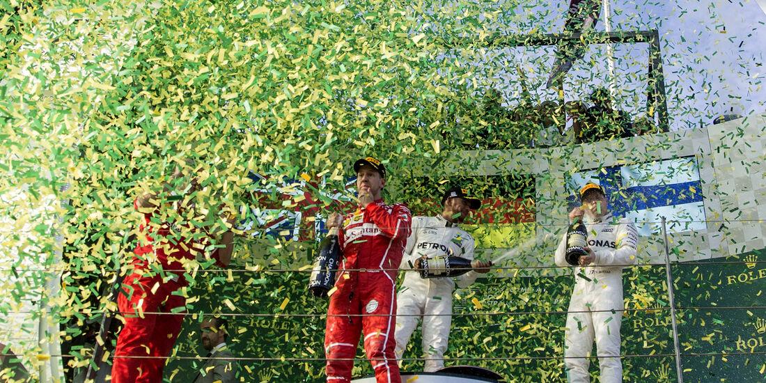 Podium - GP Australien 2017