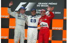 Podium - GP Brasilien 2004
