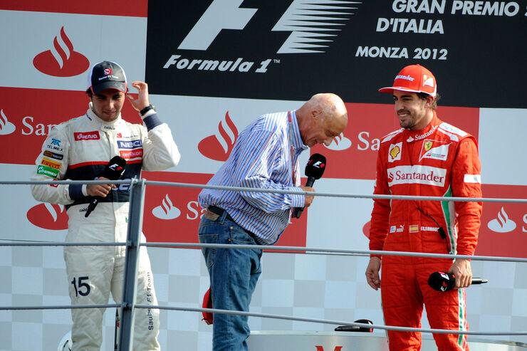 Podium GP Italien 2012 Monza