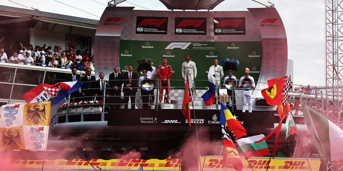 Podium - GP Italien 2018