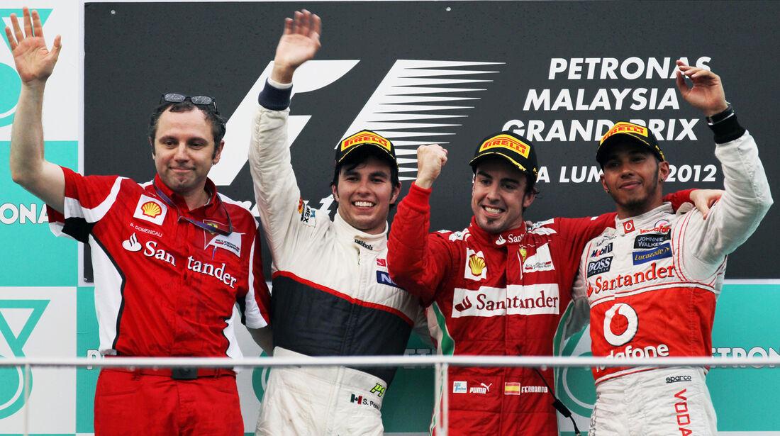 Podium GP Malaysia 2012