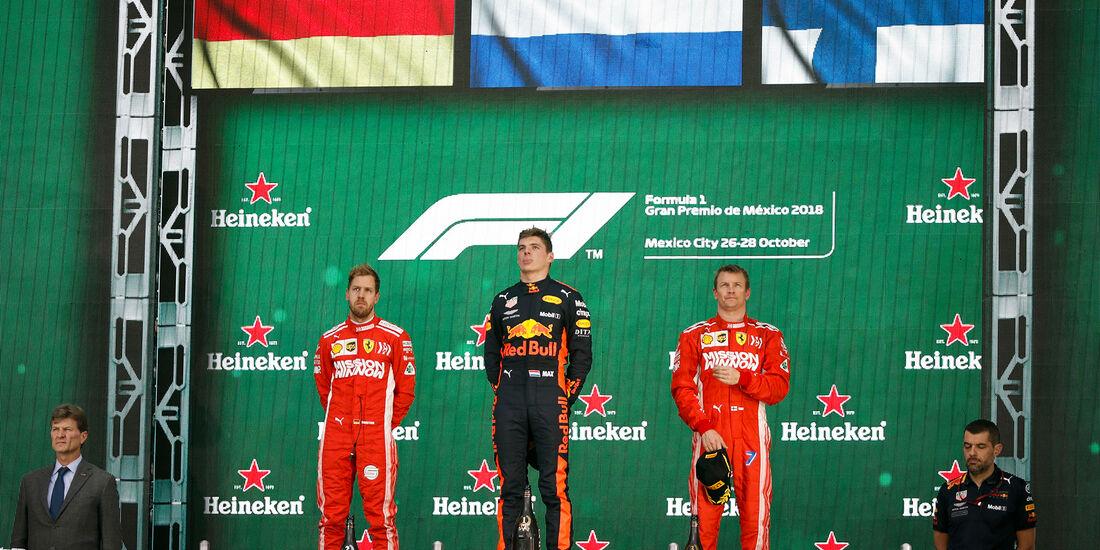 Podium - GP Mexiko 2018