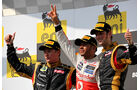 Podium - GP Ungarn 2012