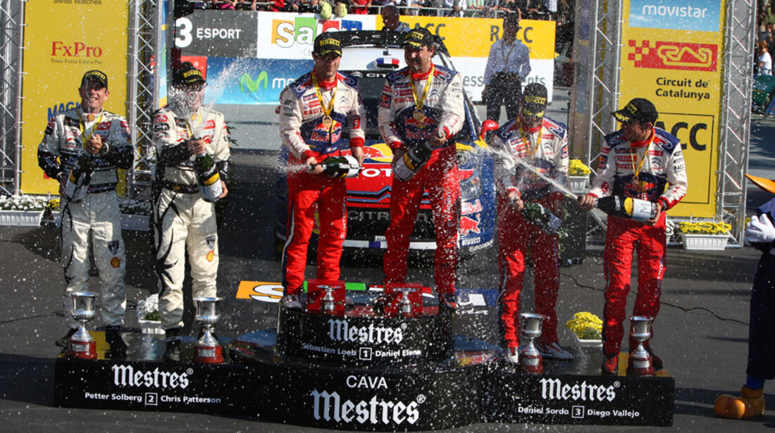 Podium Rallye Spanien