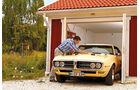 Pontiac Firebird 400 Coupe Serie 223, Frontansicht, Garage