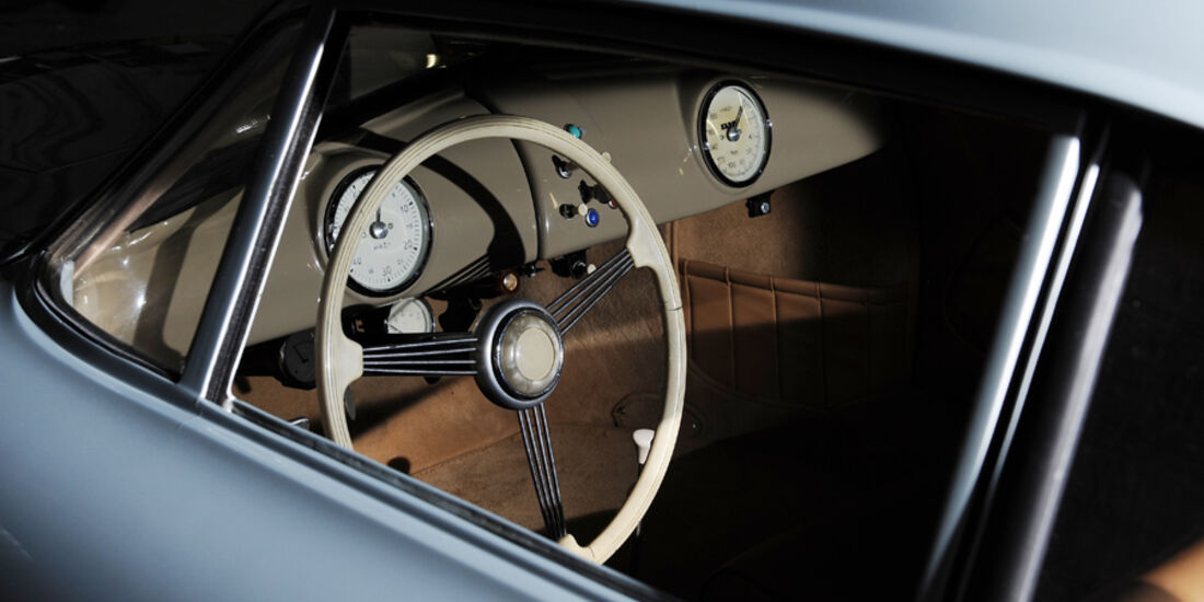 Porsche 356/2-004, Lenkrad, Seitenfenster, Fahrerseite