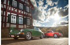 Porsche 356 C, Porsche 911 T 2.4, Seitenansicht