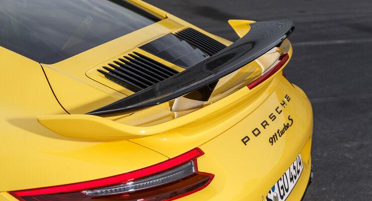 Porsche 911 991.2 Turbo S, Heckspoiler, Modellbezeichnung