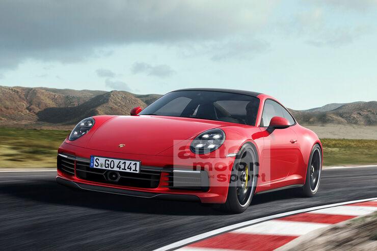 Porsche 911 992 Retusche