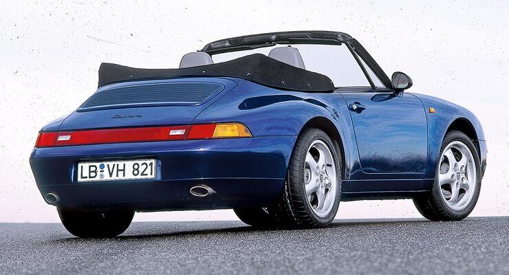 Porsche 911 Cabrio 993, Heckansicht