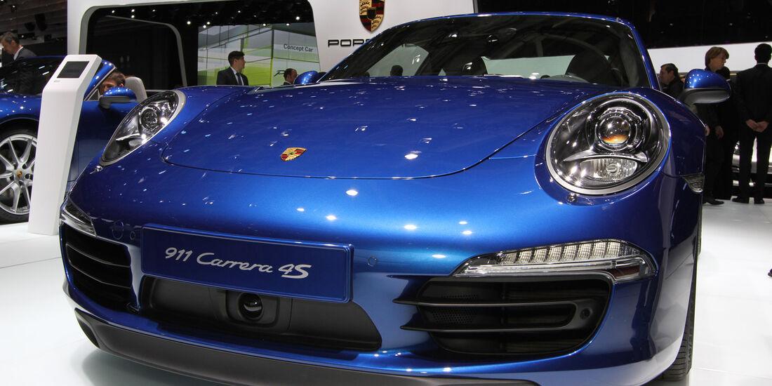 Porsche 911 Carrera 4S, Messe, Autosalon Paris 2012