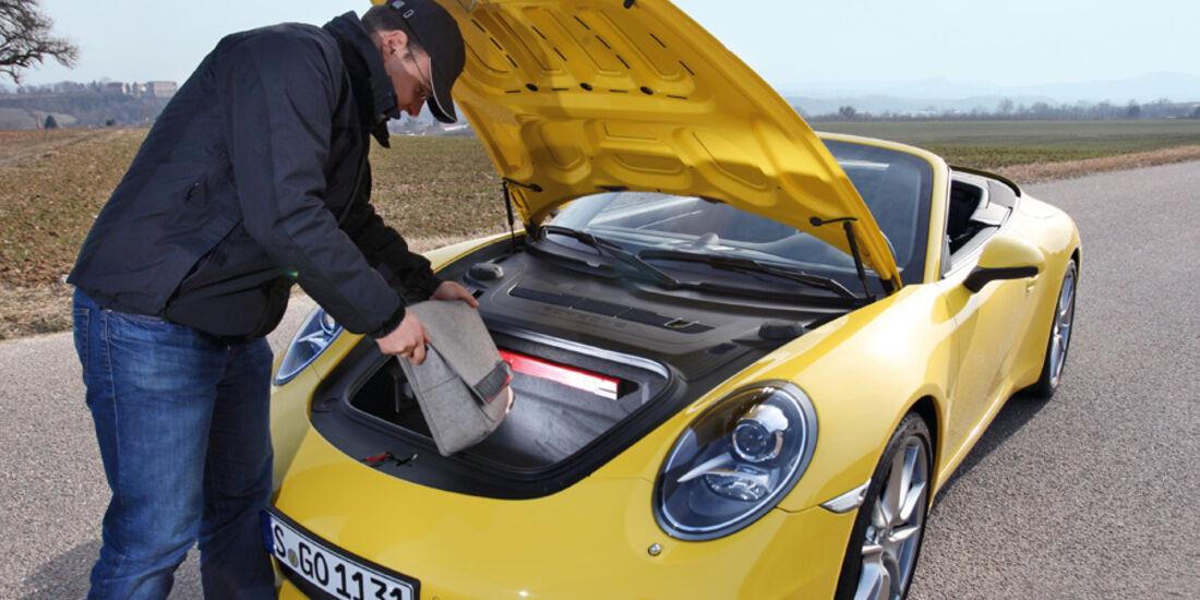 Porsche 911 Carrera Cabriolet, Haube, Kofferraum