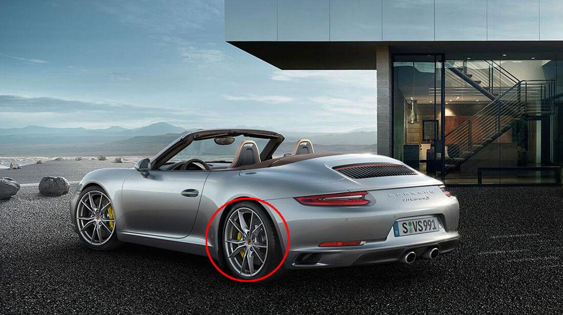 Porsche 911 Facelift änderungen Markierung