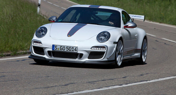 Porsche 911 GT3 RS 4.0, Frontansicht, Kurve