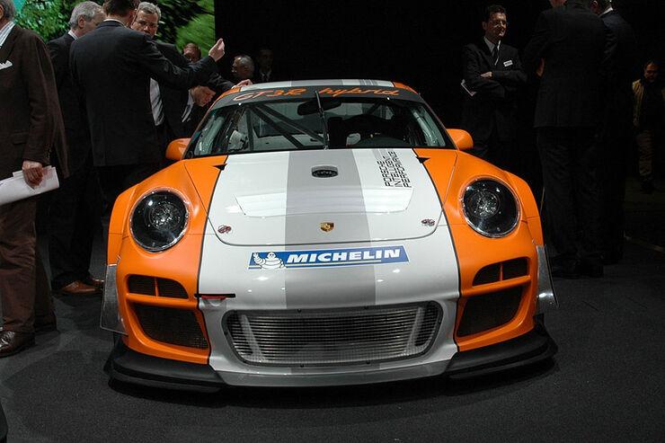 Porsche Gt3 R Hybrid Auf Dem Genfer Autosalon 2010 Auto
