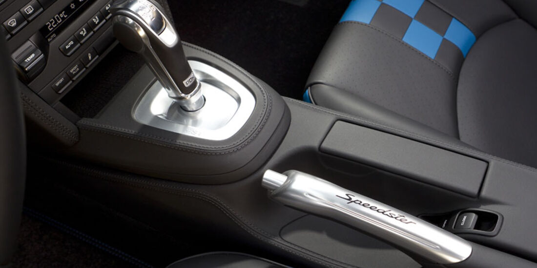 Porsche 911 Speedster, Schalthebel, Handbremse