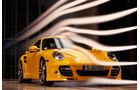 Porsche 911 Turbo S, Frontansicht, Windkanal