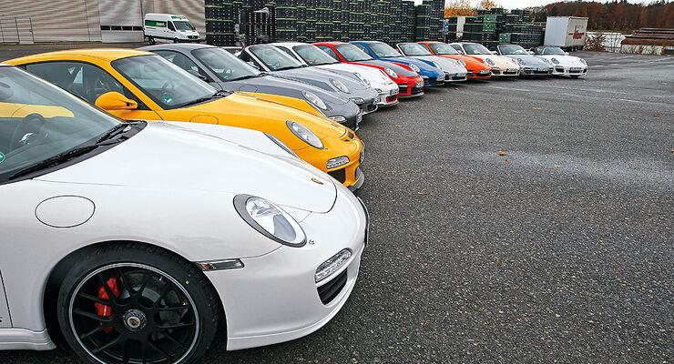 Porsche 911, komplette Modellpalette