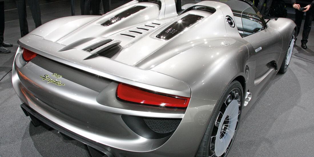 Porsche 918 Spyder, Endversion, Austellung, Heck