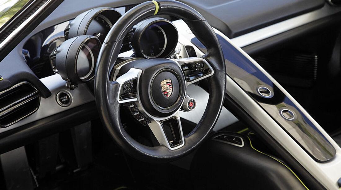 Porsche 918 Spyder, Konzept-Studie, Detail, Cockpit