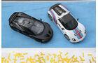 Porsche 918 Spyder, McLaren P1, Draufsicht