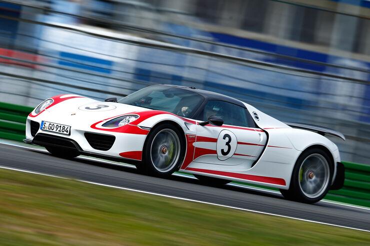 Porsche 918 Spyder, Seitenansicht